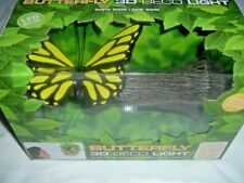 3D Deco Wall Light YELLOW BUTTERFLY with STICKER BEDROOM/Kids Room/BABY ROOM,NEW