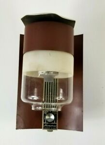 Vtg Humphrey Propane Gas Wall Sconce ON/OFF Knob Glass Globe Camper Cabin Light