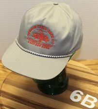 OREGON TRAIL SAFE COMPANY HERMISTON ORE HAT GRAY ADJUSTABLE VERY GOOD CONDITION