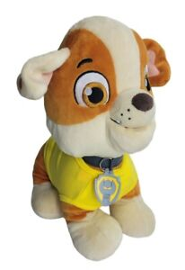 Build A Bear Paw Patrol Plush Rubble Puppy dog Nickelodeon With Shirt and Collar