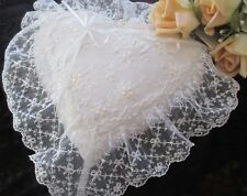 EXQUISITE NOTTINGHAM LACE RING CUSHION - NEW WITH LABELS