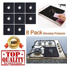 8 PCS Reusable Gas Range Stove Top Burner Protector Liner Cover For Cleaning Top