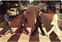 Beatles Abbey Road Goffrato Segno Del Metallo 300mm x 200mm (Na)