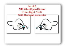 2 x ABS Wheel Speed Sensor w Connector Front-Right & Left For Blazer  Jimmy