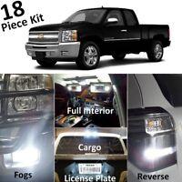 For 2007-2013 Silverado Sierra White LED Interior Exterior Lights kit +Tool CS3F