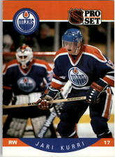 1990-91 PRO SET HOCKEY JARI KURRI ERROR NO STRIPE CARD #87 OILERS NMT/MT-MINT