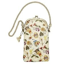Winnie the Pooh Small bag w/ Chain Phone Glasses Cosmetics Case Disney New
