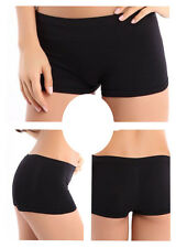 Women Seamless Basic Plain Solid Tight Athletic Shorts Stretch Spandex Pants