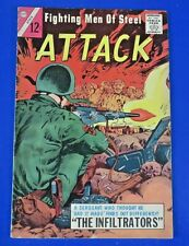FIGHTING MEN OF STEEL ATTACK #3 SILVER AGE COMIC BOOK 1964 ~ FN