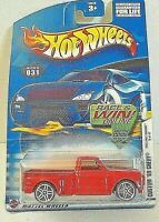 Hot Wheels '69 Chevy Custom Red Pickup Tinted Windows #19 of 42 2002 1st Edition