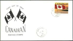 Canada  #  1389   CANADIAN FLAG OVER SEASHORE   Brand New 1993 Unaddressed Issue