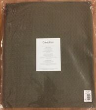 Calvin Klein Delta Matelasse Fawn Prairie Queen Coverlet / Bedspread $240