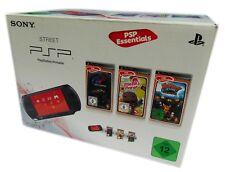 Sony PSP E1004-CB Street Playstation Portable Schwarz inkl. 3 Spiele ab 12 Jahre