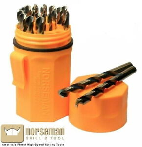 44190 Norseman / Viking 29 Piece Drill Bit Set Jobber Length Orange Ultradex