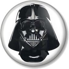 """Darth Vader Head 25mm 1"""" Pin Button Badge Star Wars Movie Film Anakin Skywalker"""