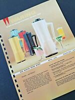 Vintage WARING  Electric DRINK MIXER 1962 Pages from Manar Sales Catalog