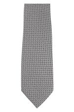 Tom Ford 100% Silk Neck-Tie Gray Geometric