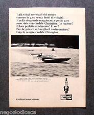 O327 - Advertising Pubblicità - 1967 - CHAMPION CANDELE MISS CHRYSLER CREW