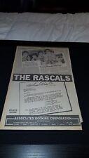 The Rascals Rare Original 1968 Associated Booking Corp. Promo Poster Ad Framed!