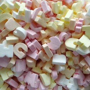 KINGSWAY ALPHABET SUGAR SWEETS ideal for party bags, wedding, christening,