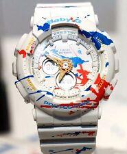 Casio Baby-G Splatter Pattern Street Art Ladies Watch BA-120SPL-7A