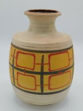 Vase céramique West Germany modèle 7061-20 - Décor graphique - Vintage années 50