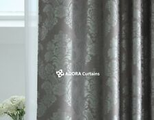 TOP QUALITY BLOCKOUT Eyelet Curtain - Jacquard Damask(GREY)  260(W) x 230(L) cm