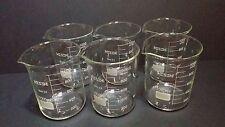 1000 ml borosilicate glass graduated beakers (Set of 6)