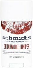 Deodorant Stick, Schmidts Naturals, 3.25 oz 1 pack Cedarwood & Juniper