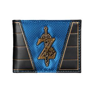 The Legend of Zelda Master Sword Blue/Black Bi Fold Wallet With Metal Emblem