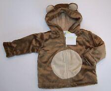 NWT Gymboree 12-18 Mths Brand New Baby Unisex Monkey Faux Fur Hooded Jacket Coat