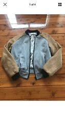 Cameo Grey And Gold Bomber Jacket Size S