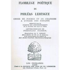 FLORILÈGE POÉTIQUE de Philéas LESBESGUE Illustré par ORZONI Partition Chant 1933