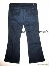 7 FOR ALL MANKIND Jeans LEXIE A POCKET Womens 28 Petite Dark Wash Bootcut Boot