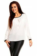 Ladies Blouse Tunic top Sheer Long Sleeve Work Casual Wedding Size 8 10 12