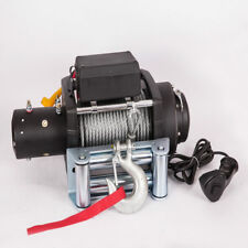 ST 15000LB Electric Recovery Winch Universal 12V Steel Cable Rope Towing Tow Kit