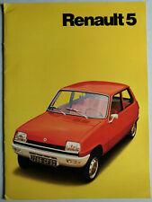 Prospekt Renault 5 / 5 TS, 1972, 24 Seiten, größer DIN A4