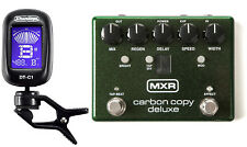 Mxr Carbon Copy Deluxe Analog Delay Guitar Effects Pedal M292 ( Dunlop Tuner )