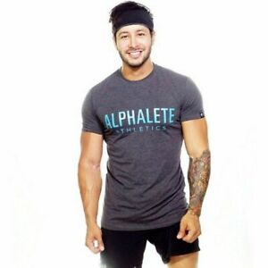 Short Sleeved Cotton T-Shirts For Men Bodybuilding Gym Tops Slim Workout Clothes