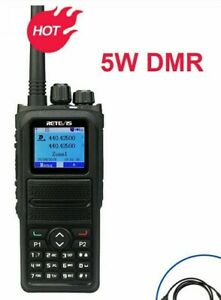 Walkie Talkie Ham Radio Transceiver Two Band Communication Device Two Way Screen
