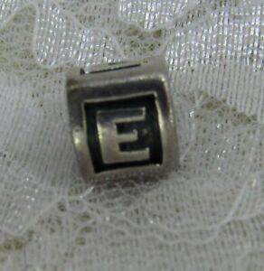 Pandora Sterling Silver 925 ALE Triangle Letter  E Slider Charm