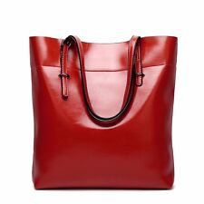 Women Genuine Leather Bag Ladies Shoulder Bag Tote Handbag Large Shopping Purse