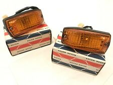New OEM DATSUN Nissan 280zx, S130 AMBER Front Side Marker Light Lamp Set (Pair)