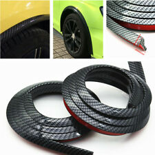 2Pc Carbon Fiber Fender Flares Protector Strip Wheel Eyebrow Anti-friction Pad