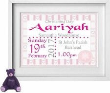 BABY GIRL | Personalised Picture | Christening | Gift | FREE POST | (NP168)