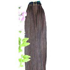 DOUBLE WEFT Medium Brown Human Hair Extension Weft Full Head #4
