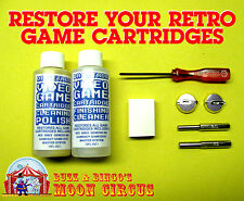 PROFESSIONAL VIDEO GAME CARTRIDGE CLEANING RESTORATION KIT  NES SNES N64 & MORE