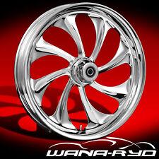 "WanaRyd Twisted Chrome 18"" x 8.5"" Rear Wheel Rim 13-15 Harley Softail Breakout"