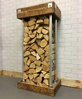 Log Store Indoor Log Holder Log Rack  Basket Wood Burner Log Storage Firewood