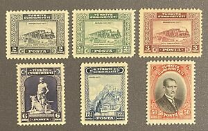 Turkey 1929 London Printing First with Latin Characters Only SET SG #1070/1075